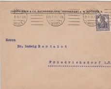 Allemagne Timbres Perforés Perfins Sur Lettre De Frankfurt 1919 - Cartas