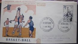 Enveloppe FDC 161 - 1956 - Mulhouse - Basket - YT 1072 - Sport - Brieven En Documenten