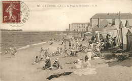 LE CROISIC PLAGE DE ST GOUSTAN ANIMEE - Le Croisic