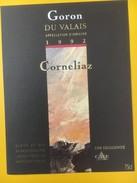 4193 - Goron Du Valais Corneliaz 1992 Suisse - Autres