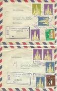 1961  3 Air Mail Letters To Brussels, Belgium - Venezuela