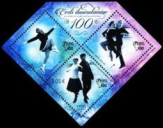 Estonia Estland Estonie 2017 (06) Estonian Figure Skating 100 Years (s/sh) - Estonia