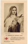 IMAGE PIEUSE RELIGIEUSE HOLY CARD SANTINI RELIQUIA Etoffe Ayant Touché à La Vénérable Sainte Thérèse De L'enfant Jésus - Imágenes Religiosas