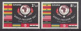 Ghana 1959 Mi.nr: 46-47 Tag Der Afrikanischen Freiheit  Neuf Sans Charniere /MNH / Postfris - Ghana (1957-...)