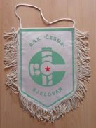 BSK CESMA BJELOVAR Croatia  FOOTBALL CLUB, SOCCER / FUTBOL / CALCIO  OLD PENNANT, SPORTS FLAG - Uniformes Recordatorios & Misc