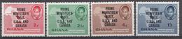 Ghana 1958 Mi.nr: 32-35 Besuch Von Präsident Kwame Nkrumah In Den USA  Neuf Sans Charniere /MNH / Postfris - Ghana (1957-...)