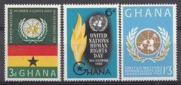 Ghana 1960 Mi.nr: 91-93 Tag Der Menschenrechte  Neuf Sans Charniere /MNH / Postfris - Ghana (1957-...)