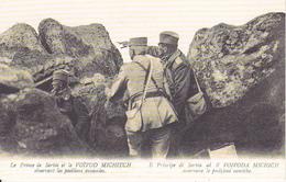 CPA Le Prince De Serbie Et Le Voivod Michitch Observant Les Positions Ennemies - WW1 (28733) - Personnages