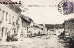 RARE CPA : REMOVILLE LA GRANDE RUE ET LE CAFE ROLLIN 88 - Unclassified