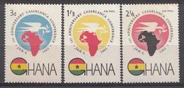 Ghana 1962 Mi.nr: 115-117 Jahrestag Der Casablanca Konferenz  Neuf Sans Charniere /MNH / Postfris - Ghana (1957-...)
