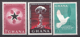 Ghana 1962 Mi.nr: 121-123 Accra-Konferenz  Neuf Sans Charniere /MNH / Postfris - Ghana (1957-...)