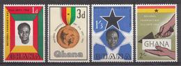 Ghana 1962 Mi.nr: 130-133 Tag Des Gründus Der Nation  Neuf Sans Charniere /MNH / Postfris - Ghana (1957-...)