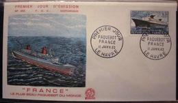 Enveloppe FDC - 1962 - Bateau - Le Havre - Paquebot - France - YT 1325 - France