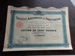 ARDENNAISE DE PANIFICATION (1933) POIX TERRON  , ARDENNES - Actions & Titres