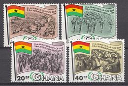 Ghana 1968 Mi.nr: 330-333 Jahrestag Der Februar-Revolution  Neuf Sans Charniere /MNH / Postfris - Ghana (1957-...)