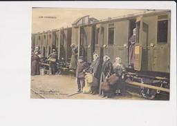 65 Lourdes Arrivée D'un Train De Pélerins Cpa Animée - Lourdes
