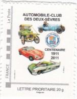 MTAM Automobile Club Deux Sévres De 2011 Dessin R. Irolla - Personalizzati (MonTimbraMoi)