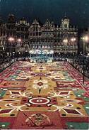 Bruxelles (1000) : Vue Nocturne Du Tapis De Fleurs De La Grand'Place. CPSM. - Brussel Bij Nacht