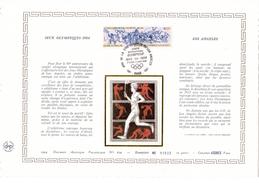 """FRANCE 1984 : Feuillet DAP 1° Jour CERES En Soie RARE (4200 Ex) """" J.O. DE LOS ANGELES """" N° YT 2314. Parfait état - Summer 1984: Los Angeles"""