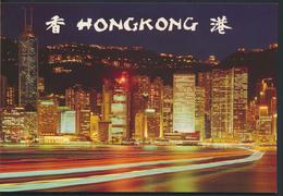°°° 4854 - HONG KONG - THE CENTRAL DISTRICT OF HONG KONG NIGHT °°° - Cina (Hong Kong)