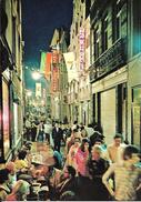 Bruxelles (1000) : L'effervescence Touristique De La Rue Des Bouchers, La Nuit. CPSM. - Brussel Bij Nacht