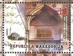 MK 2017-04 525YEARS MOSQUE MUSTAFA PASCHA, MACEDONIA MAKEDONIJA, 1 X 1v, MNH