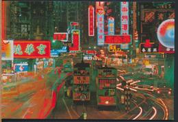 °°° 4857 - HONG KONG - HENNESSY ROAD NIGHT VIEW °°° - Cina (Hong Kong)