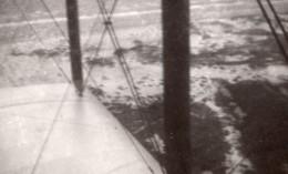 France? Avion Au Sol Sur La Plage Et En Vol Aviation Ancienne Photo 1920's