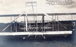 France Aviation Aeroplane Wright Au Mans Ou A Pau Ancienne Carte Photo 1908