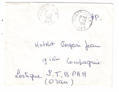 Guerre D'Algérie : Lettre De Famille FM  PUGET VILLE, Var > Matelot 9 Eme Compagnie Lartigue , Oran ST BPAN , 1959 , TB - Storia Postale