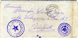 1936  MUY BONITA CARTA VILLAMANRIQUE DE TAJO PARTIDO COMUNISTA        Ref EL567 - 1931-Hoy: 2ª República - ... Juan Carlos I