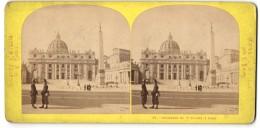 Stereo-Foto Ansicht Rom, Basilique De St. Pierre, Petersdom - Fotos Estereoscópicas