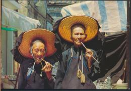°°° 4874 - HONG KONG - VILLAGE WOMEN OUTSIDE KATHING WALLED CITY °°° - Cina (Hong Kong)