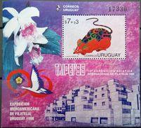 Uruguay, 1996, Year Of The Rat, Birds, Orchids, Taipei 96, MNH