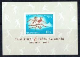1966  Jeux Européens - Course à Obstacles Bloc Feuillet Non -dentelé **