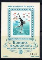 1963  Championnats Europées De Patinage De Fantaisie Bloc Feuillet Non-dentelé **