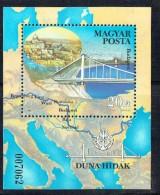 1985  Pont Sur Le Danube à Budapest - Carte Du Danube  -Bloc Feuillet ** - Blocs-feuillets