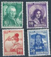 Switzerland 1938 SET 4V PRO JUVENTUTE 4v MH