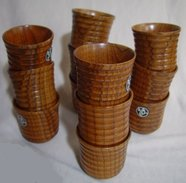12 Lacker Tree Wooden Cups - Cups