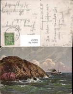 540257,Künstler Ak Dampfer Hochseeschiff Schiff Vor Küste - Handel