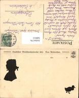 540012,Künstler AK Silhouette Scherenschnitt Deutscher Mädchenkalender 1912 Kränzchen - Scherenschnitt - Silhouette