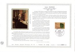 """FRANCE 1985 : Feuillet DAP 1° Jour CERES En Soie RARE (4000 Ex) """" LOUIS PASTEUR """" N° YT 2371. Parfait état - Louis Pasteur"""