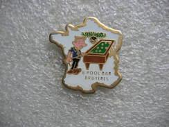 Pin's Du Billard Club Au 8pool Bar De Bruyeres (Vosges) - Billiards