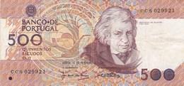 Portugal - Billet De 500 Escudos - 13 Février 1992 - Mouzinho Da Silveira - Portugal