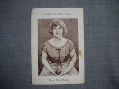 Carte Vignette  Publicitaire 1920  D'espagne  - MARY MILES MINTER - Actrice Américaine  - Chocolates PIERA Y BRUGUERA - Attori