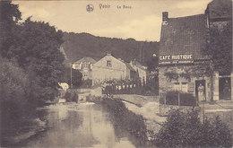 Yvoir - Le Bocq (café Rustique, Animée, Réunion Des Pêcheurs, 1919)