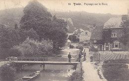 Yvoir - Paysage Sur Le Bocq (animée, Café Rustique, Edit Daoût Eyd, 1912)