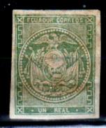 Ecuador-0002 - 1865-72: Yvert & Tellier N. 2 (sg) NG - Senza Difetti Occulti. - Equateur