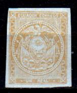 Ecuador-0004 - 1865-72: Yvert & Tellier N. 3 (sg) NG - Senza Difetti Occulti. - Equateur
