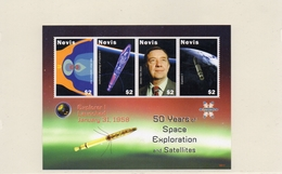 NEVIS / 50 ANS EXPLORATION SPATIALE Bloc 4 Valeurs Dentelées Neuves MNH Cote7.00 Vente 3.00 Euros - Space